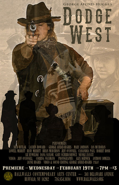 Dodge West Screening Poster. Design by Ruby Merritt.