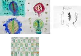2nd grade leaf drawings