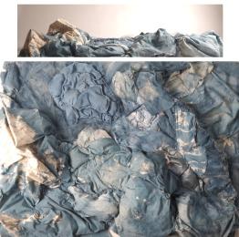 Wu Han 2016. CAFA, New/Craft course. Cotton fabrics, dye, thread, and digital photograph.